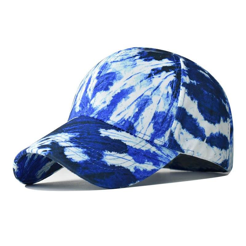 Женская бейсбольная кепка с принтом в стиле Tie Dye, низкопрофильная хлопковая кепка-тракер с эффектом потертости, регулируемая простая Кепка