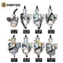ZS MOTOS PZ19 PZ26 PZ27 PZ30 Auto mano cuña de cable carburador para 50cc-250CC Dirt Pit bicicleta ATV Quad carburador