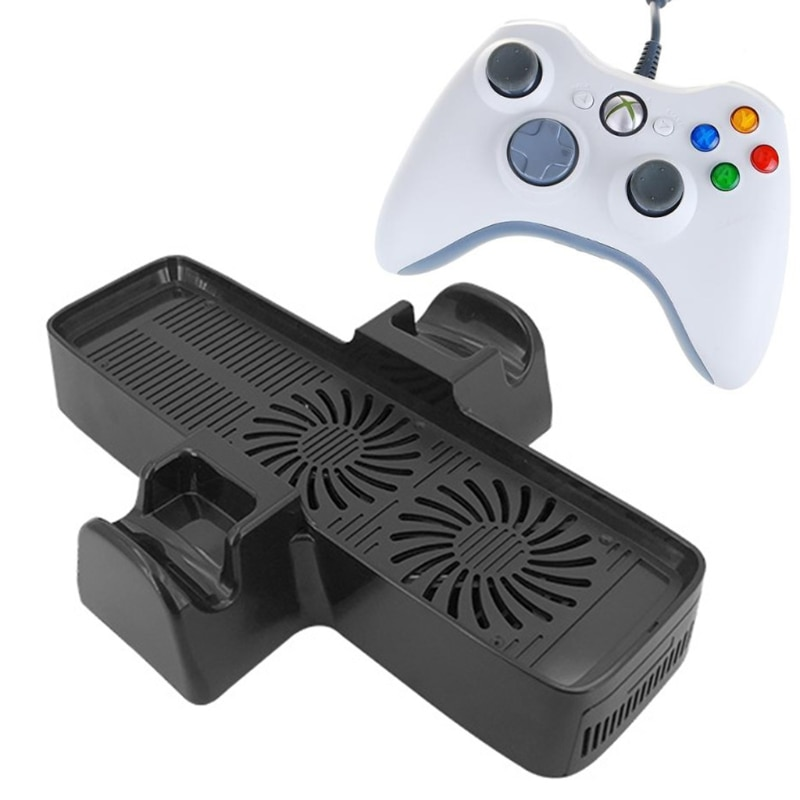 High Quality 3 In 1 Cooling Dock Station Bottom Stand Fan Cooler For X box 360 Slim Console Free Shipping enlarge