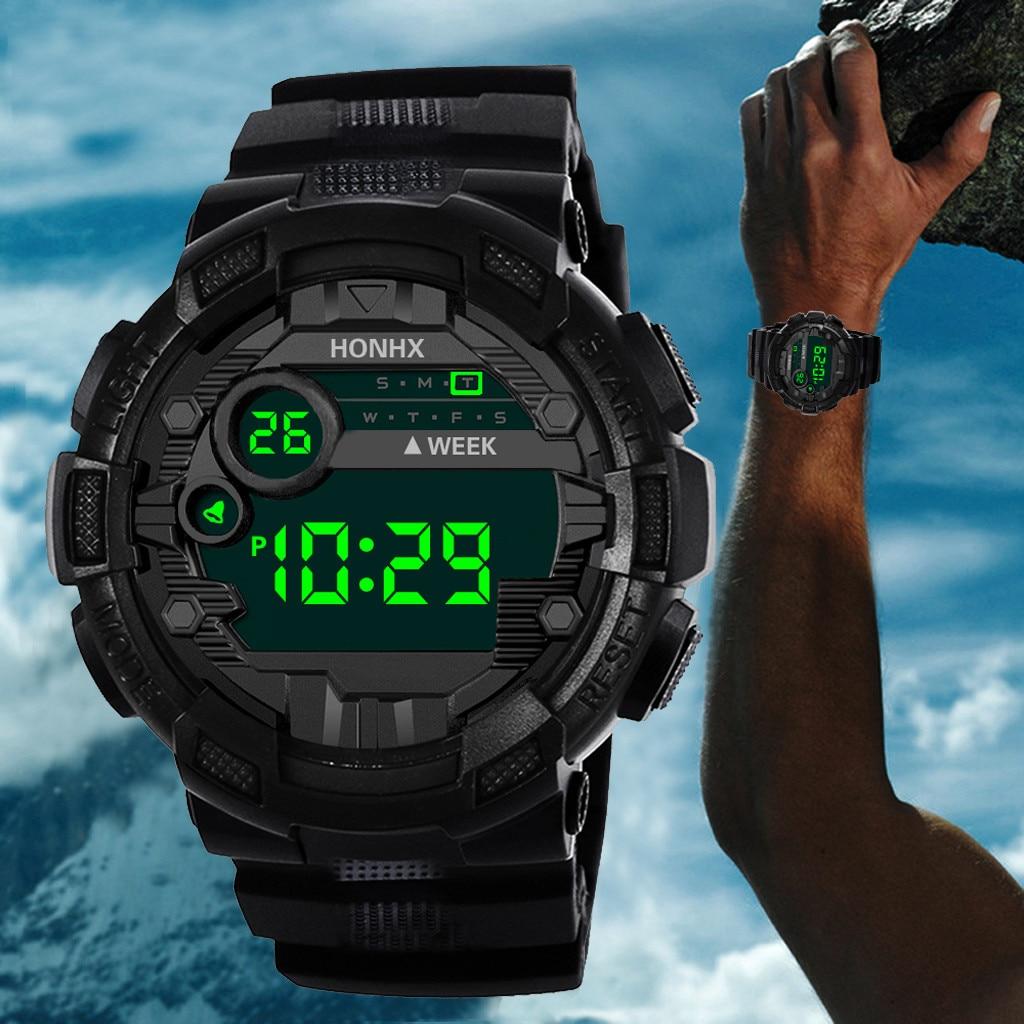 2021 Honhx Luxury Mens Digital Led Watch Date Sport Men Outdoor Electronic Watch Water-proof Watch �