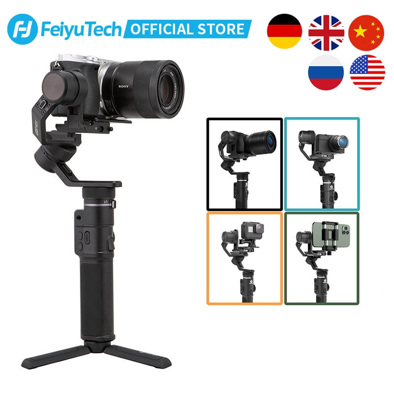 FeiyuTech الرسمية G6 ماكس 3-محور يده مثبت Gimbal ل Mirrorless جيب عمل كاميرا سوني ZV1 كانون GoPro 8