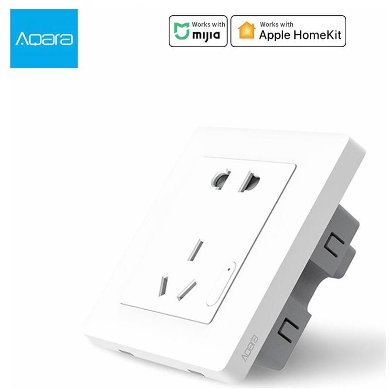 Aqara Smart wall Socket, Zigbee wifi Remotel Control Wireless Switch Work For Smart home kits APP