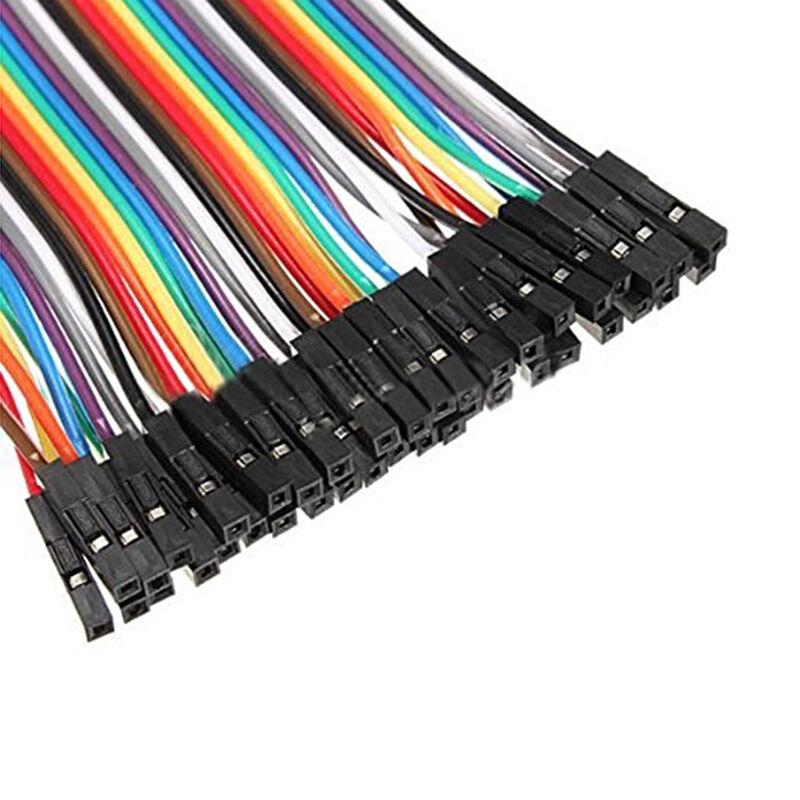 40 Uds Cable de puente Dupont 10CM Cable macho a macho de cobre aislado para KIT DIY