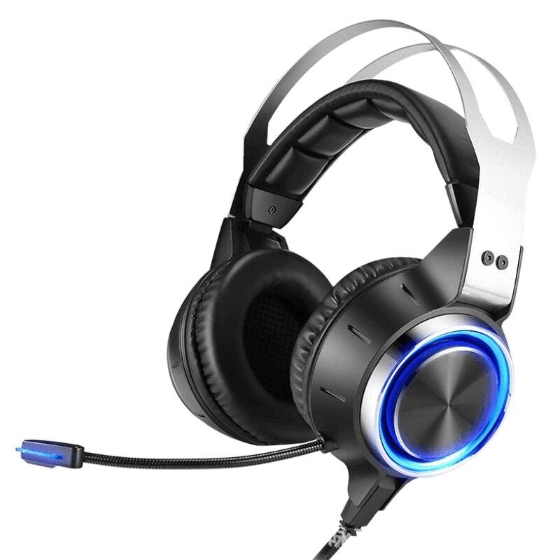 Fones de Ouvido para Computador Fones de Ouvido para Computador com Microfones Fones de Ouvido para Jogos de 7.1 Canais Microfones com