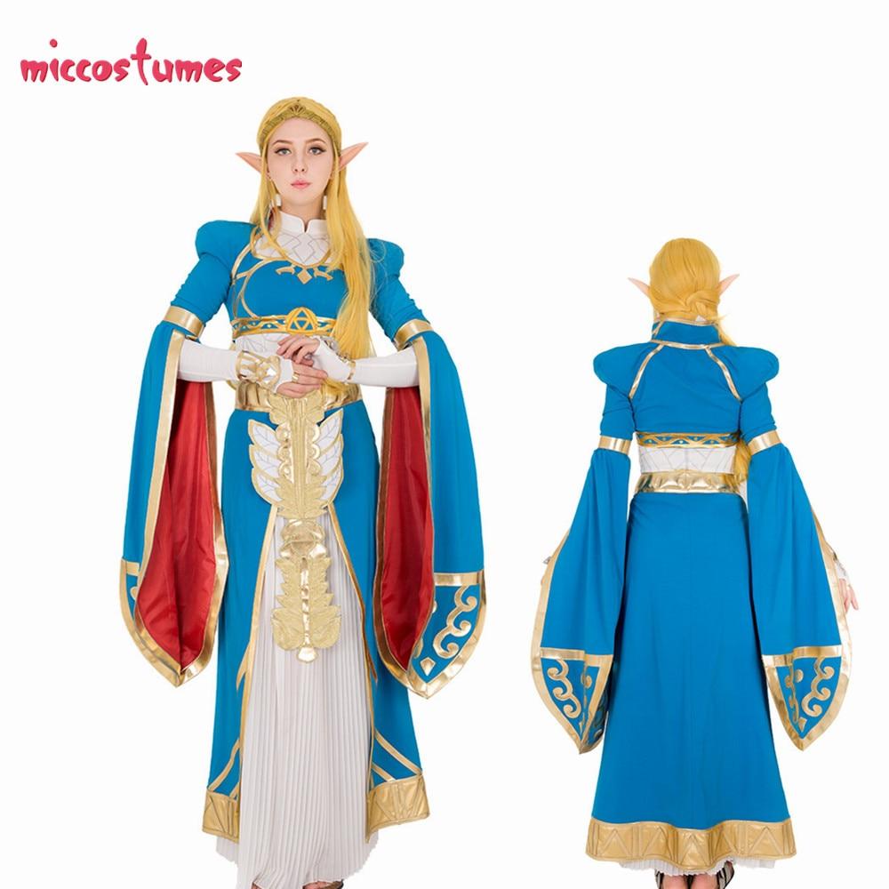 حصري الأميرة المرأة الأزرق فستان طويل ثوب تأثيري حلي