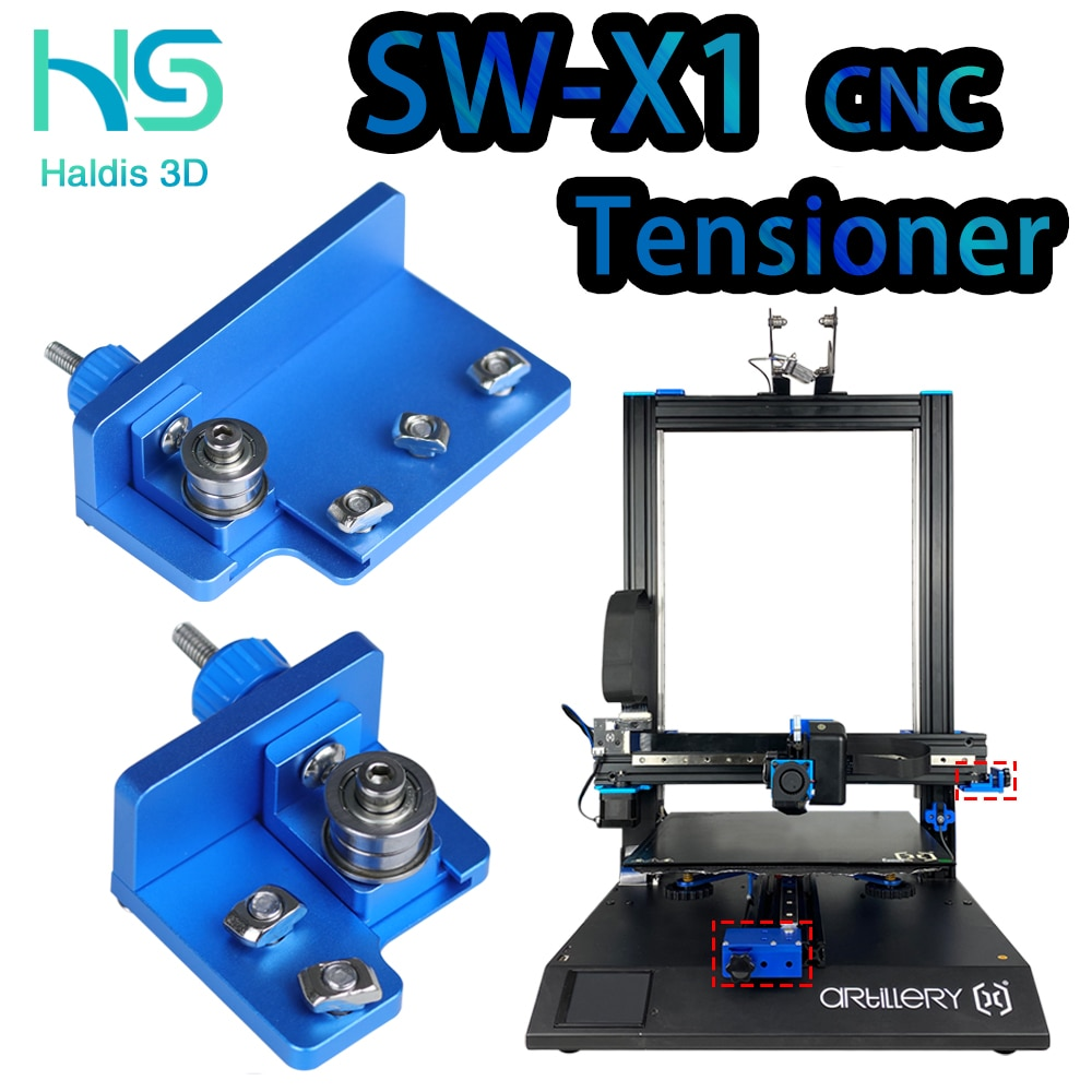 Haldis 3D X axis Y axis synchronous belt Stretch Straighten tensioner For Creality 3D Sidewinder X1 SW-x1 v2 version