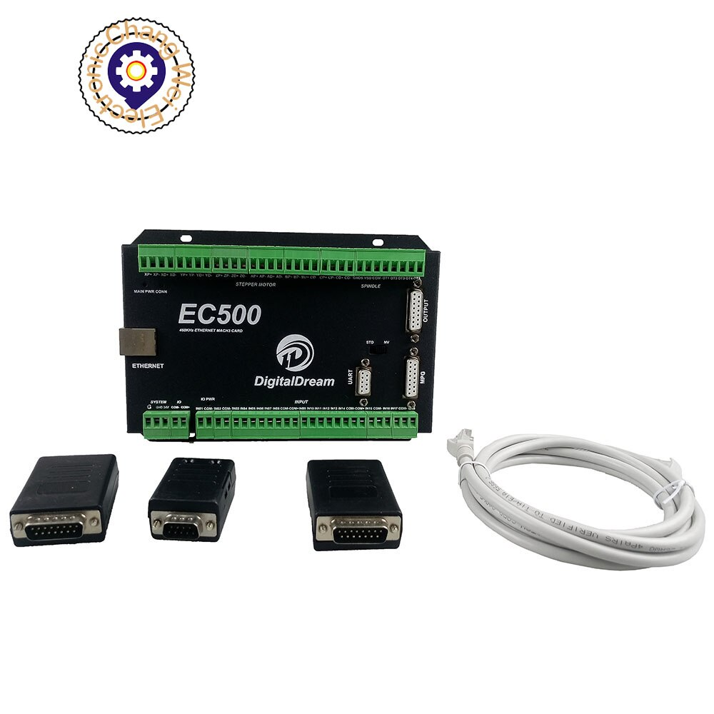 CNC Mach3 Ethernet Motion Controller EC500 460kHz 3/4/5/6 Axis Motion Control Card for milling machine