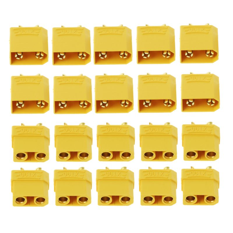 10 Pairs Female Male XT90 Banana Bullet Connector Plug For RC LiPo Battery Gold Plated Banana Plug 10 pairs t plug male