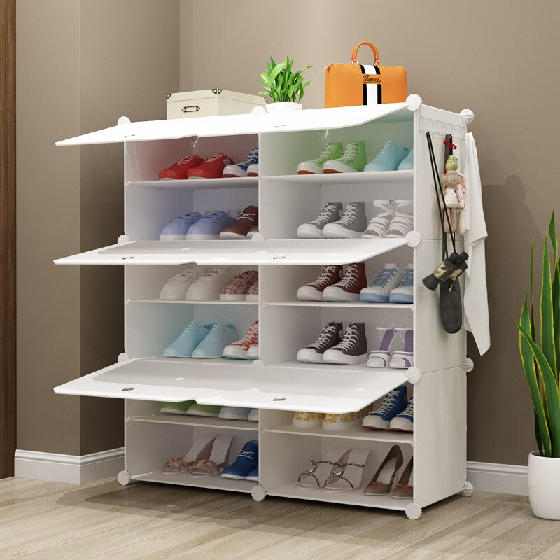 أبيض نقي جديد متعدد الطبقات الراتنج المعيشة بسيط بسيط رف الأحذية لتقوم بها بنفسك الجمعية بالجملة البلاستيك خزانة خذاء بسيطة