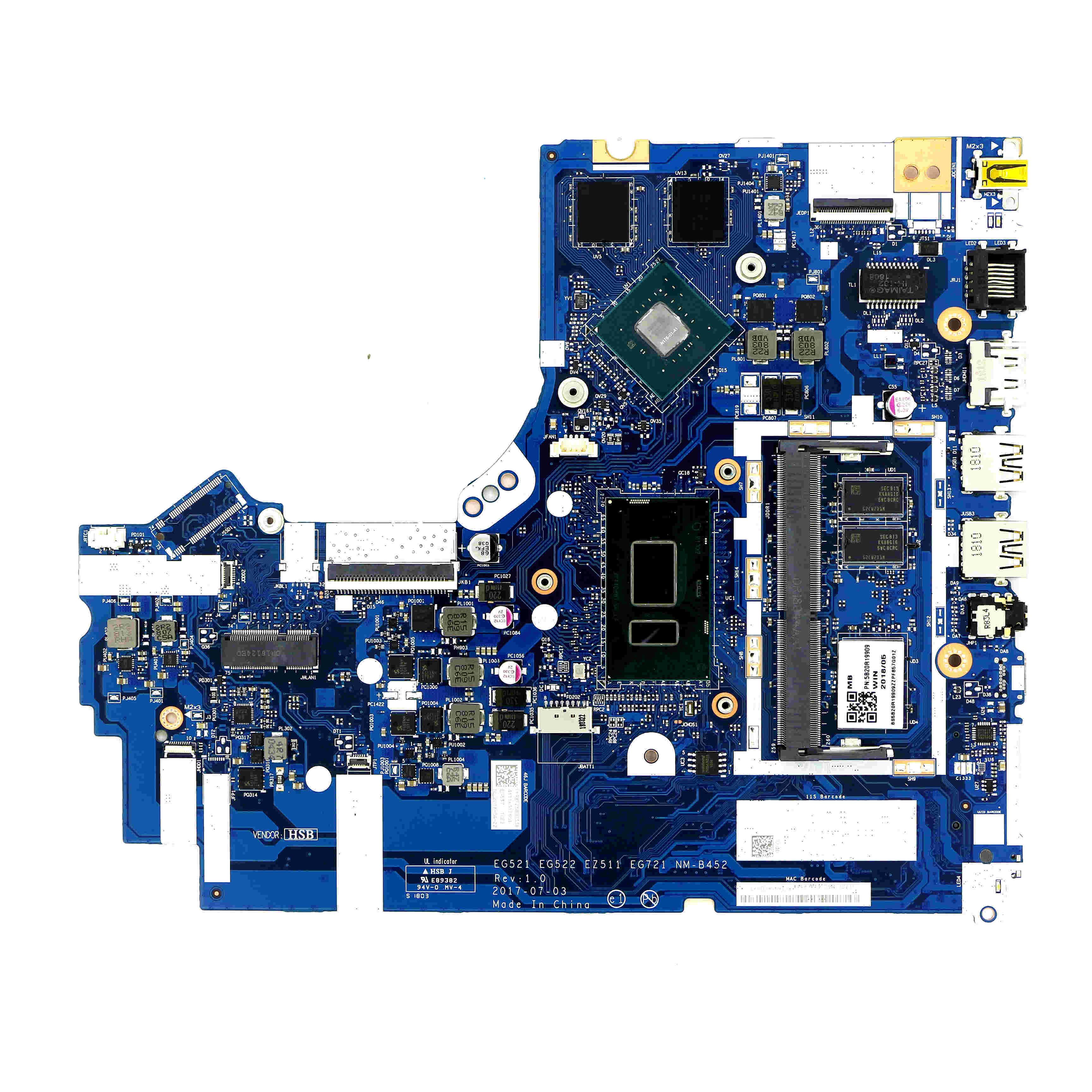 5B20R19909-discreta placa base NM-B452 w/ i5-8250U CPU + MX150 GPU para LENOVO IDEAPAD 330-15IKB