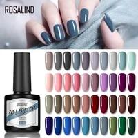 rosalind pure color gloosy matte nail gel soak off uv led gel nail polish base coat no wipe top color gel polish