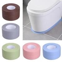 Bande de scellage etanche en caoutchouc  ruban detancheite  resistant a la moisissure  autocollant dangle pour les toilettes  pour la cuisine et la salle de bains