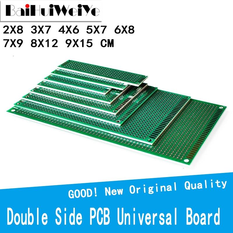 2*8 3*7 4*6 5*7 6*8 7*9 8*12 9*15 cm Double Side Prototype Diy Universal Printed Circuit PCB Board Protoboard For Arduino DIY