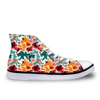 haoyun fashion womens high top canvas shoes colorful painting girls vulcanized shoes lightweight female casual sneaker shoes
