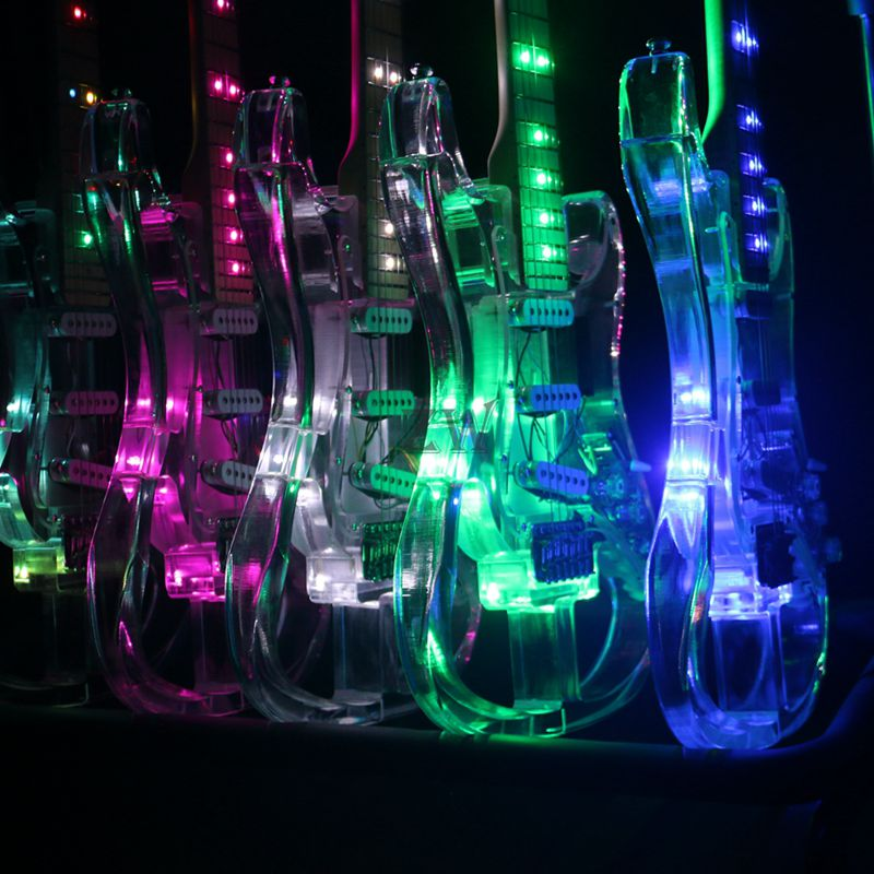 Upgraded Crystal Electric Guitar Skeleton Body less Weight More Colors Can Choose enlarge