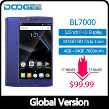"DOOGEE BL7000 7060mAh 12V2A carga rápida 5,5 ""FHD MTK6750T Octa Core 4GB RAM 64GB ROM Smartphone Dual 13.0MP Cámara Android 7,0"