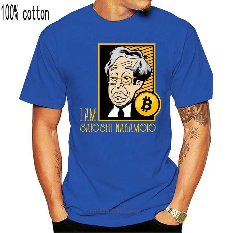 New Bitcoin I Am Satoshi Nakamoto T-shirt For Men Plus Size Custom Group Top