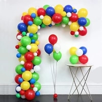 120pcs carnival circus balloons garland arch red blue yellow latex balloons for baby shower kids boy birthday party decoration