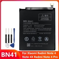 replacement phone battery bn41 for xiaomi redmi note 4 hongmi note4 redrice note 4x redmi note 4 pro 4100mah