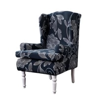 polyester sloping arm king back chair cover elastic armchair wingback wing sofa back chair cover stretch protector