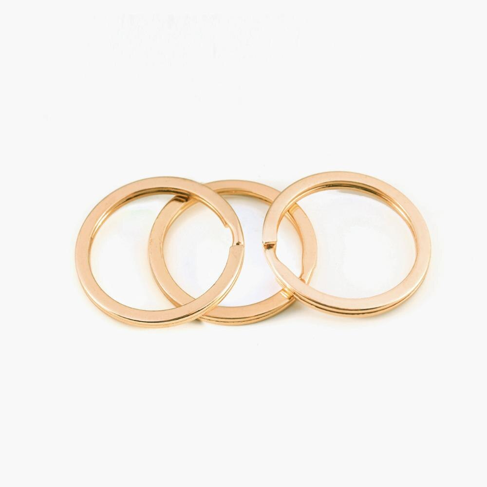 1 25mm 28mm 30mm Keychain Keyring Round Split Ring Key Ring Key Chain for Diy Jewelry Making Key Clasp Rings  - buy with discount