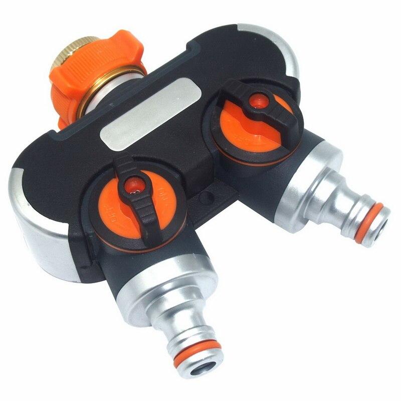 Connecteur Durable de tuyau de jardin   2 voies, séparateur de tuyau de jardin, connecteur multifonctionnel arrosage système dirrigation, séparateur de robinet de tuyau facile à connecter