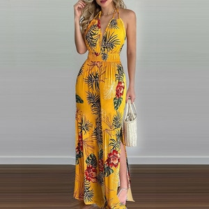 2021 New Printed Colorful Jumpsuit Women European and American