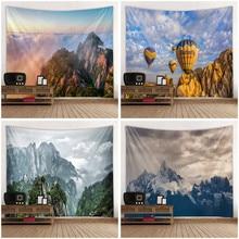 Tapisserie murale avec motif de montagne concis   Impression 3D créative, décoration murale pour maison chambre à coucher, Art mural grande taille