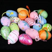 6pcslot easter eggs diy eggshell childrens handmade toys holiday gifts easter decorations party supplies