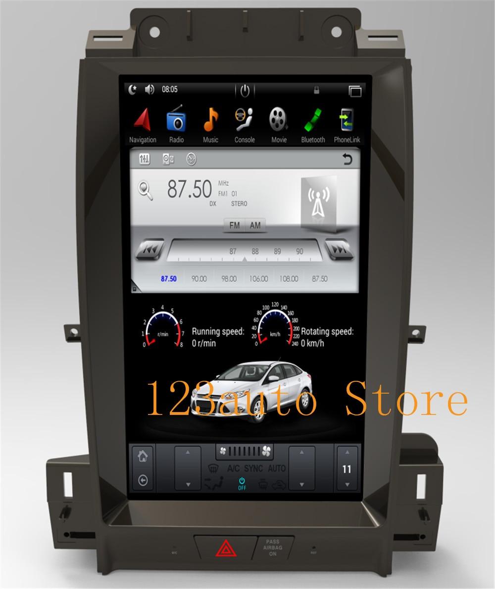"13,3 ""de pantalla Vertical estilo Tesla Android 9,0 coche DVD GPS de navegación auto radio para Ford Taurus 2012-2016 estéreo carplay"