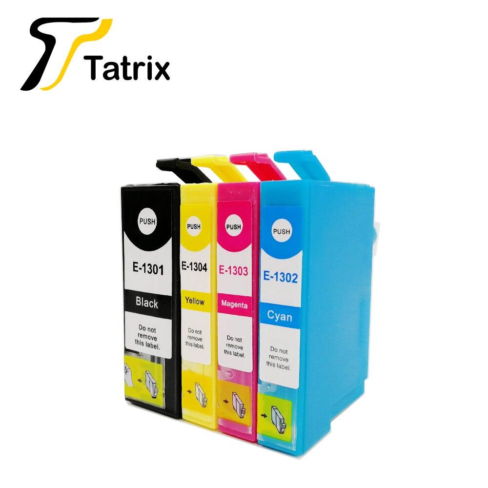Tatrix Para Epson T1301 T1302 T1303 T1304 Cartucho de Tinta Para impressora Epson B42WD 525WD BX535WD BX625FWD BX630FW SX525WD