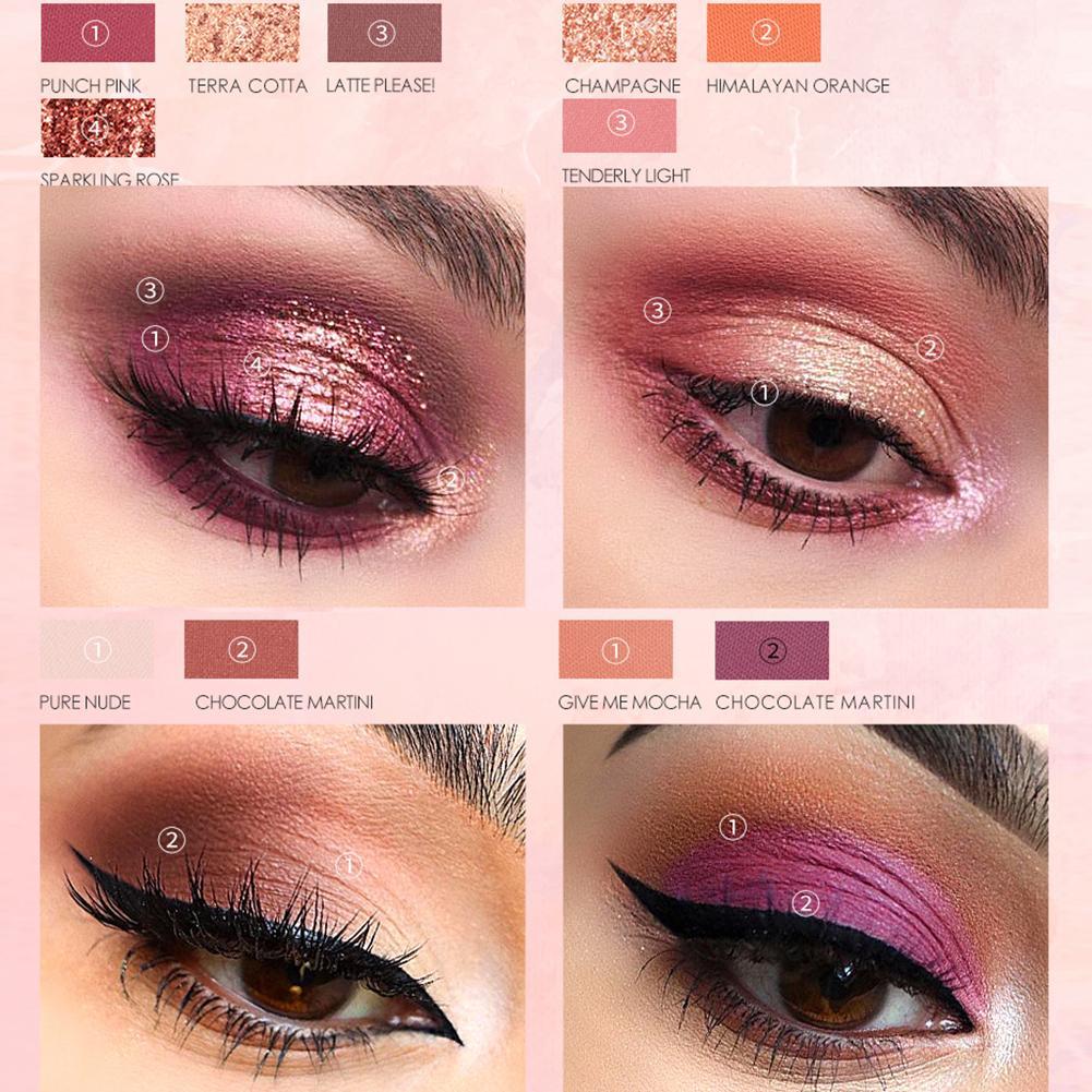 Focallure 16 cores glitter matte charming sombra em pó paleta cosméticos brilhante fosco brilho pigmento sombra pallete