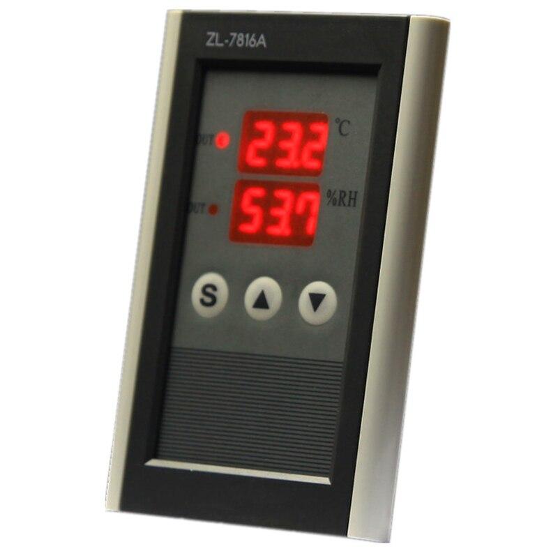 Controlador de temperatura y humedad GTBL Zl-7816A,12V, termostato e higrostato, humedad de incubadora, controlador de incubadora