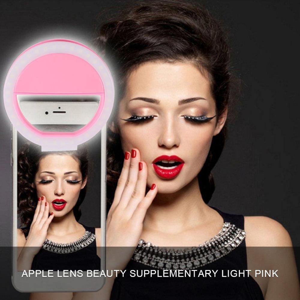 Portable Selfie Flash Led Clip-on Mobile Phone Selfie Light Night Female Anchor Beauty Self-timer Lamp Mini Camera Flashlight