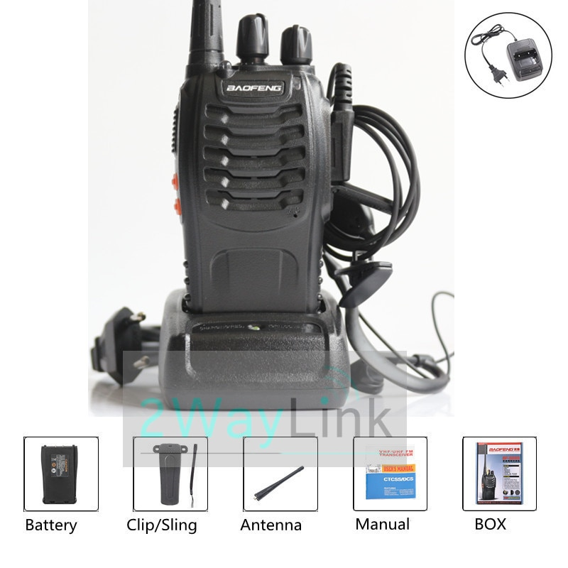 Портативная рация Baofeng, устройство двусторонней радиосвязи, 5 Вт, УВЧ, 400-470 МГц, 16 каналов, передатчик, радиостанции USB/EU