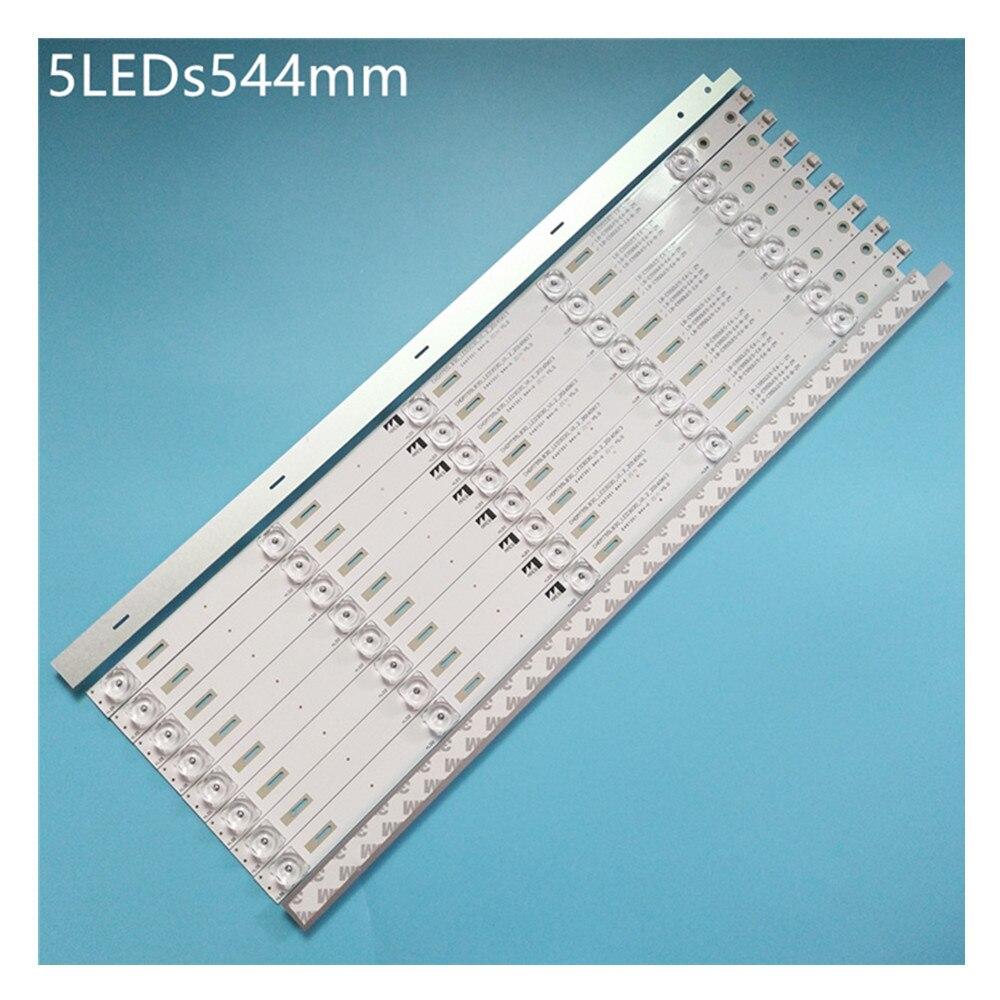 100% جديد 30 قطعة = 3 مجموعات LED شرائط ل تشانغ هونغ 55 التلفزيون 55G6 55Q5N 55E9600 CH50L55A V02 CHDMT55LB30 LED3030 V0.9 LB C550U15 E6 L ZM