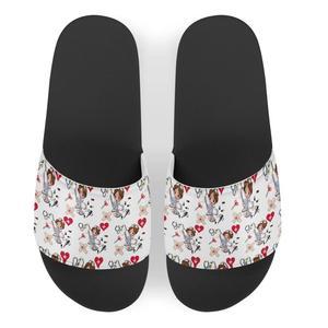 Summer cute Nurse Custom pattern Women Slippers SimpleShoes Non-slip Bathroom Slides Flip Flops Couples Indoor Platform Slippers