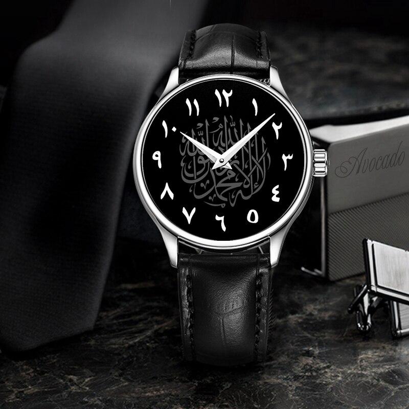 Luxury Brand Men'S Watches Fashion Arabia Quartz WristWatches Crocodile Leather Strap Relogio Masculino