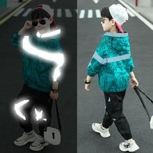 New Baby Boys Clothing Set for Kids Casual Coat Luminous Hooded Jacket Autumn Spring Children's Spor