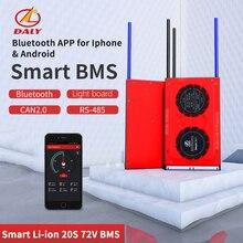 Smart 3.7V BMS 20S Bluetooth 72V 485 à périphérique USB + boîte + NTC + UART togther Lion LiFePO4 LTO Batteries2.3V/2.4V conn