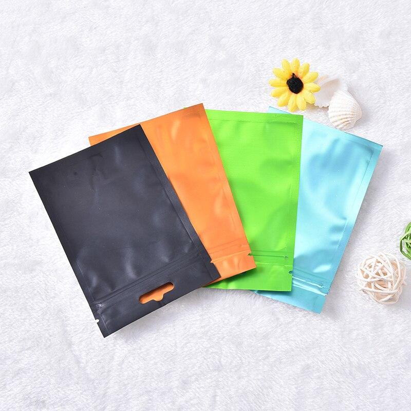 Neue 1pc Wiederverschließbaren Folie Lebensmittel Verpackung Tasche Wärme Dichtung Aluminium Folie Ziplock Taschen Flache Zip-Lock Paket Tasche Lebensmittel grade 4 Farben