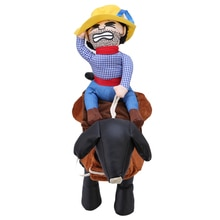 Mignon chien à capuche carlin vêtements Costumes Cowboy cavalier manteau vêtements costume chiot Apperal chien sweat-shirts vêtements QW878910