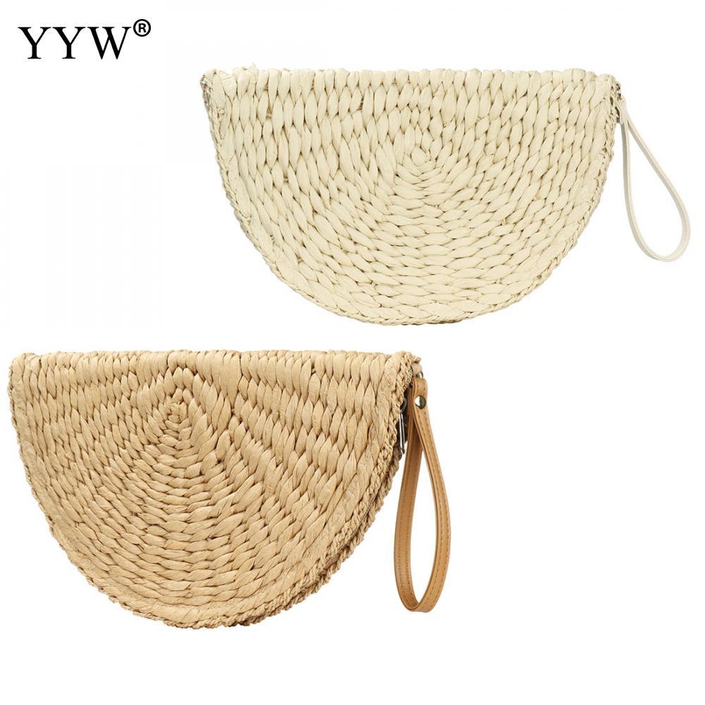 Соломенные сумки-клатчи 2021, сумки для женщин, соломенные сумки с кожаными ручками, соломенные сумки-тоуты, летние пляжные соломенные сумки, ...