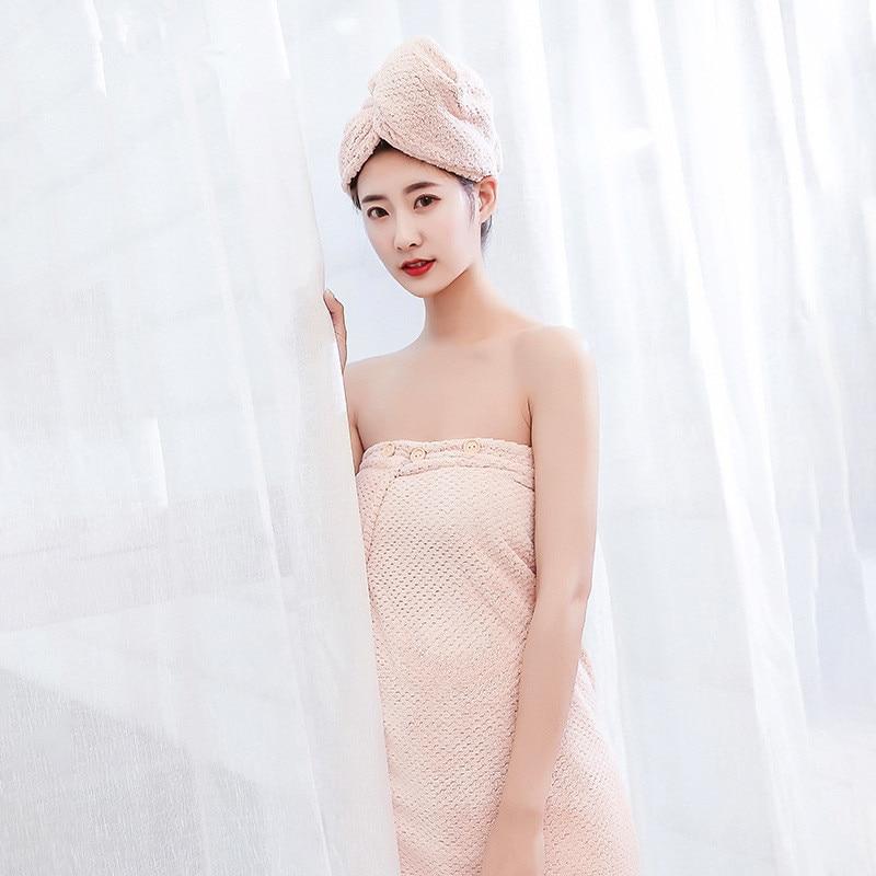 75x140 cm/80x150 cm tubo superior baño falda absorbente suave microfibra adulto piña baño toalla más gruesa usable