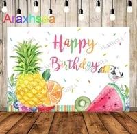 twoti frutti birthday photo backdrop fruit theme first birthday photography background watermelon lemon backdrops