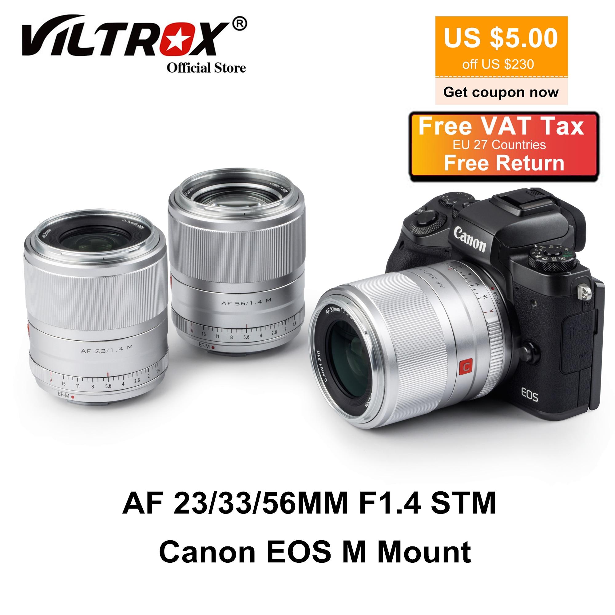 Viltrox 23/33/56 مللي متر F1.4 EF-M عدسة السيارات التركيز صورة رئيس عدسة APS-C لكانون EOS م عدسة الكاميرا M5 M10 M100 M200 M50 M6II