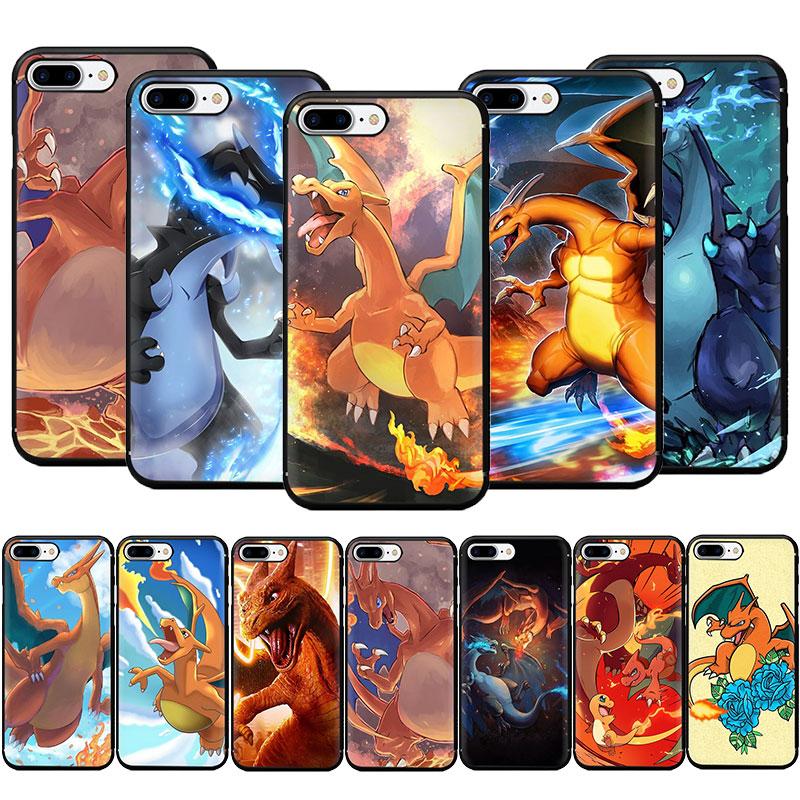 Charizard macio caso capa de telefone para iphone 12 mini se 2020 5 5S 6s plus 7 8 plus x xr xs 11 pro max