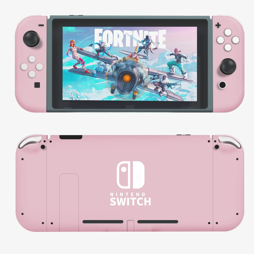 Nintend Switch NS Console Joy Con Replacement Housing Shell Cover for Nintendos Switch Back Faceplate Housing Shell Case Pink