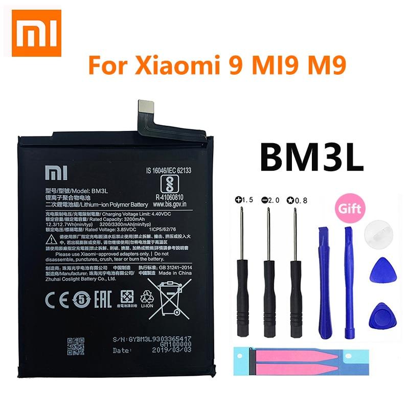 Batería de repuesto Original Xiao mi para Xiaomi 9 MI9 M9 MI 9 Xiaomi9 BM3L batería de teléfono genuina 3300mAh herramientas gratis