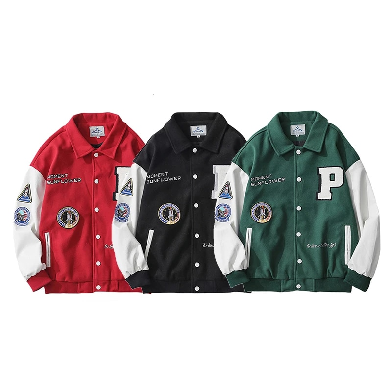 Горячая Распродажа весенне-осенняя куртка мужская куртка-бомбер с вышитыми буквами Женская бейсбольная куртка в стиле унисекс модная улич...
